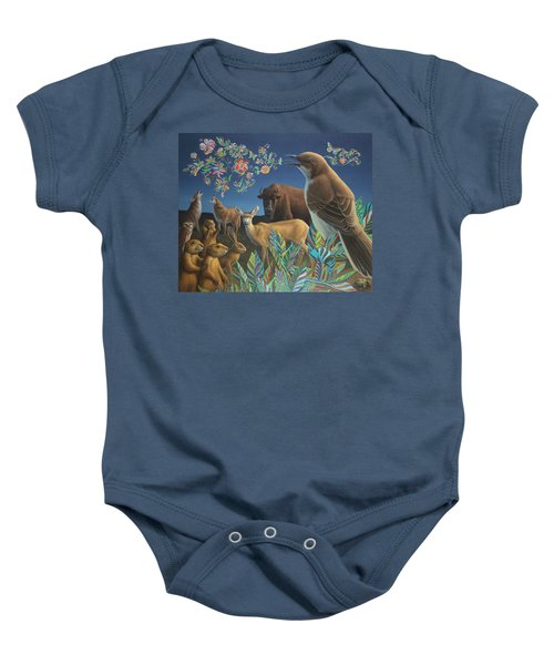 Nocturnal Cantata Baby Onesie by James W Johnson