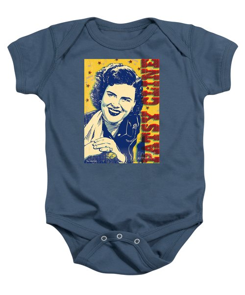 Patsy Cline Pop Art Baby Onesie by Jim Zahniser