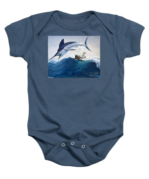The Old Man And The Sea Baby Onesie by Harry G Seabright