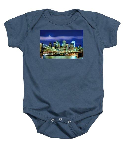Watching Over New York Baby Onesie by Az Jackson