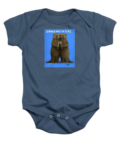 Significant Otters... Baby Onesie by Will Bullas
