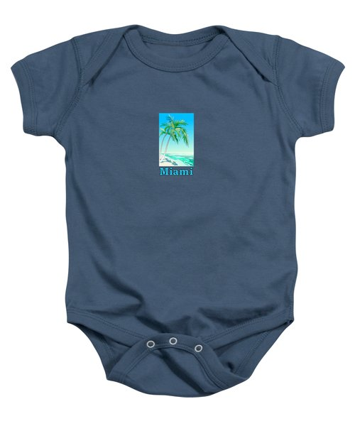 Miami Florida Baby Onesie by Brian's T-shirts