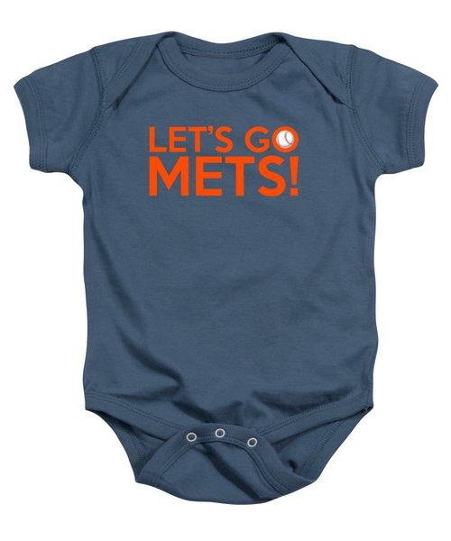 Let's Go Mets Baby Onesie by Florian Rodarte