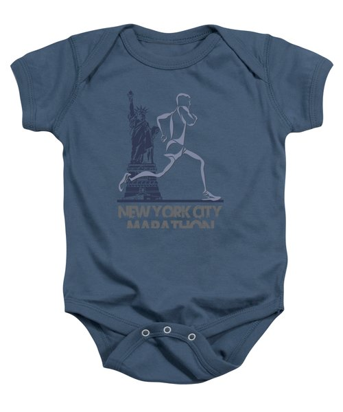 New York City Marathon3 Baby Onesie by Joe Hamilton