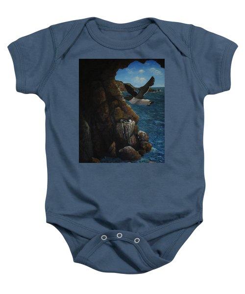 Razorbills Baby Onesie by Eric Petrie