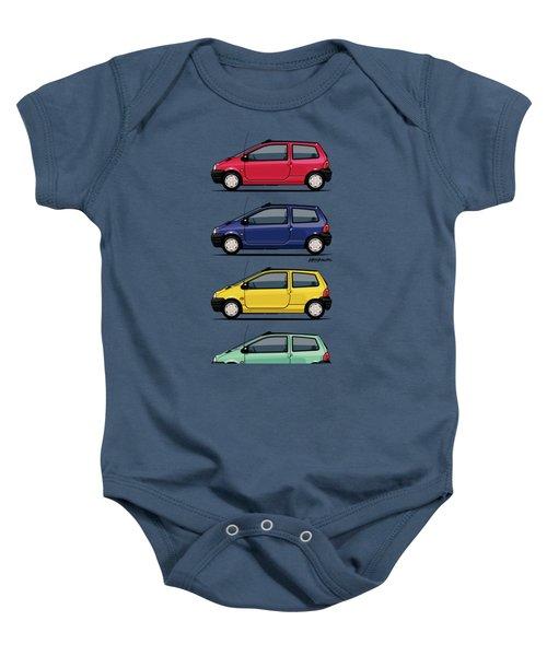 Renault Twingo 90s Colors Quartet Baby Onesie by Monkey Crisis On Mars