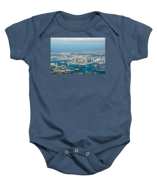 Sydney From The Air Baby Onesie by Parker Cunningham