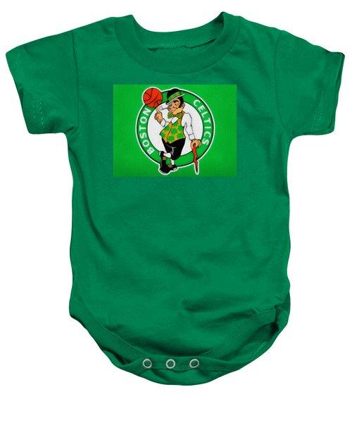 Boston Celtics Canvas Baby Onesie by Dan Sproul