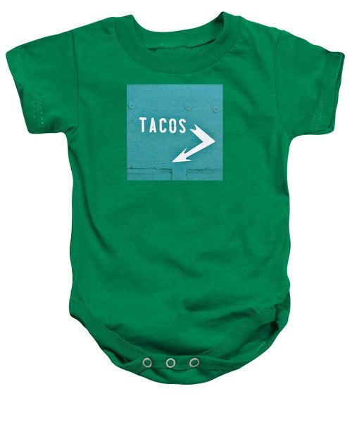 Tacos Baby Onesie by Art Block Collections