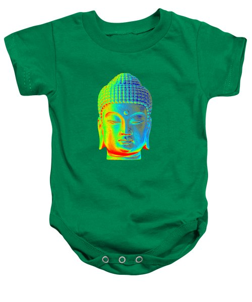 colorful Buddha - Korean Baby Onesie by Terrell Kaucher