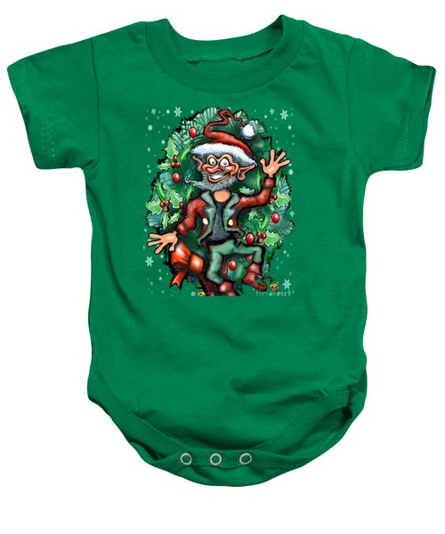 Christmas Elf Baby Onesie by Kevin Middleton