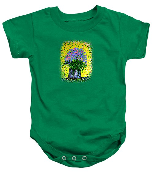 Explosive Flowers Baby Onesie by Alan Hogan