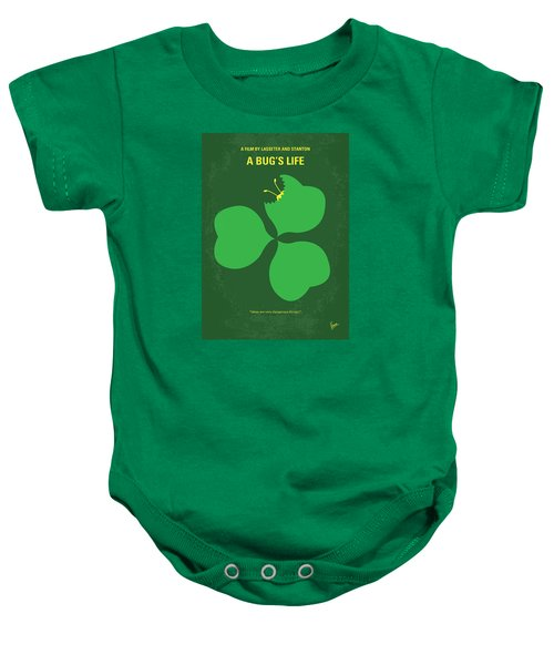 No401 My A Bugs Life Minimal Movie Poster Baby Onesie by Chungkong Art