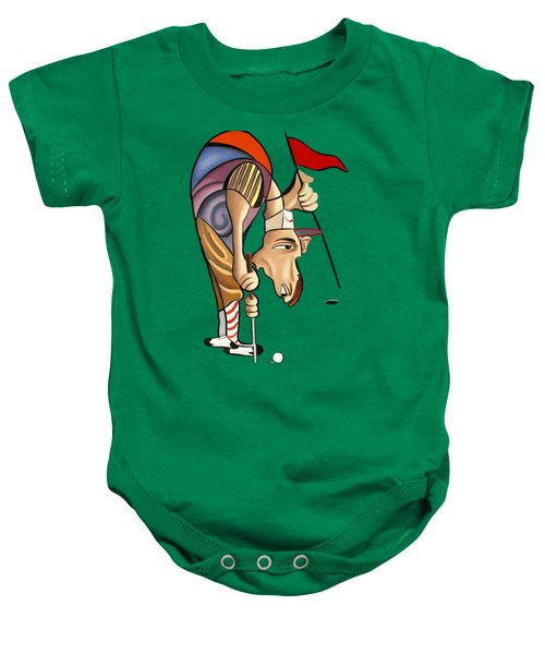 Par For The Course T-shirt Baby Onesie by Anthony Falbo