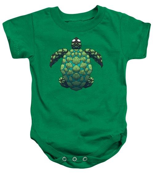 Sea Turtle Baby Onesie by Dusty Conley