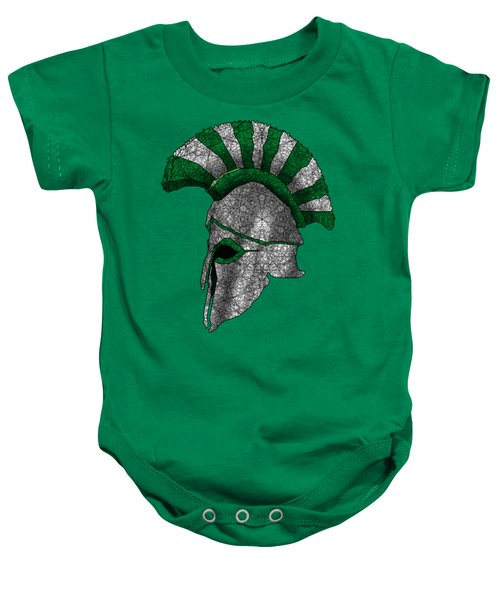 Spartan Helmet Baby Onesie by Dusty Conley