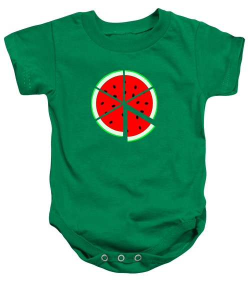 Watermelon Wedge Baby Onesie by Susan Eileen Evans