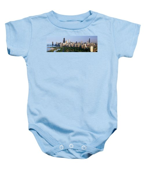 Buildings In A City, View Of Hancock Baby Onesie by Panoramic Images