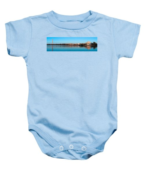 Jefferson Memorial And Washington Baby Onesie by Panoramic Images