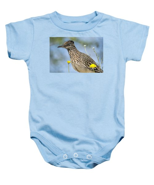 The Greater Roadrunner  Baby Onesie by Saija  Lehtonen