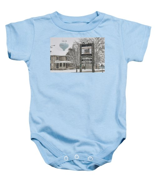 The Whitehouse Inn Sign 7034 Baby Onesie by Jack Schultz