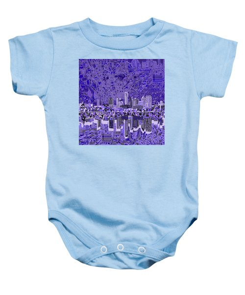 Austin Texas Skyline 4 Baby Onesie by Bekim Art
