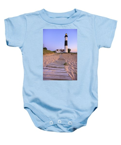 Big Sable Point Lighthouse Baby Onesie by Adam Romanowicz