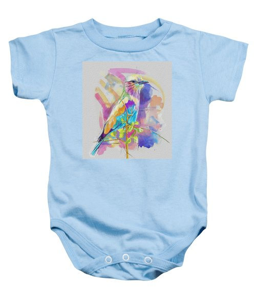 Bird On A Twig Baby Onesie by Catf
