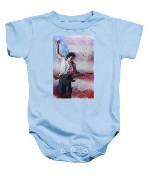 Bruce Springsteen The Boss Baby Onesie by Viola El