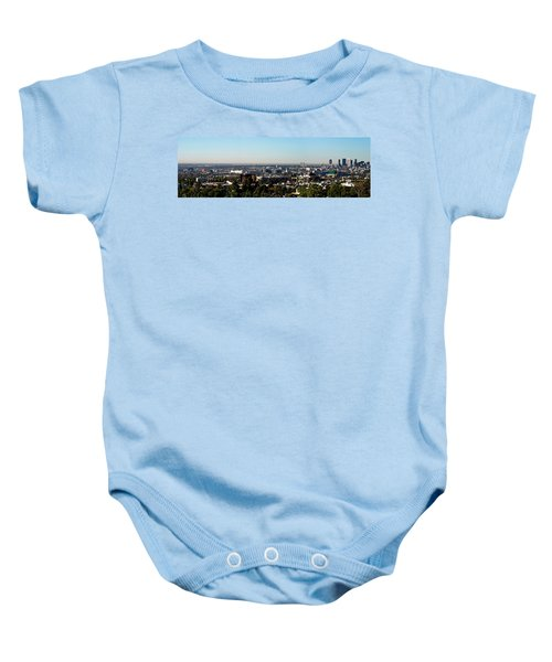 Elevated View Of City, Los Angeles Baby Onesie by Panoramic Images