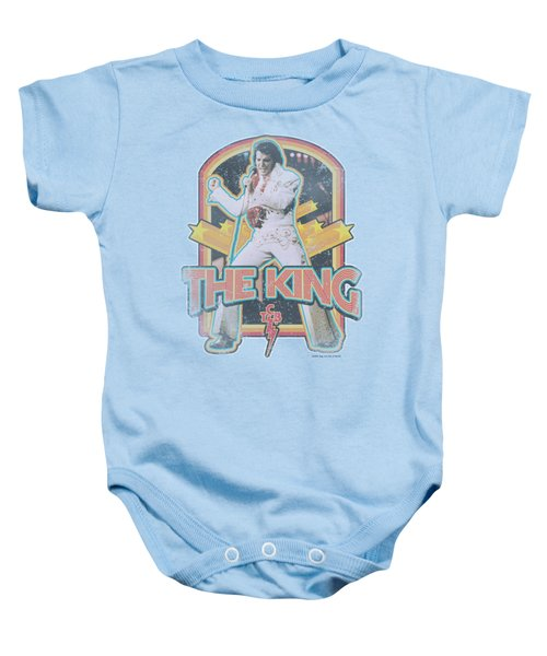 Elvis - Distressed King Baby Onesie by Brand A