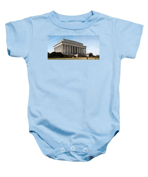 Facade Of The Lincoln Memorial, The Baby Onesie by Panoramic Images