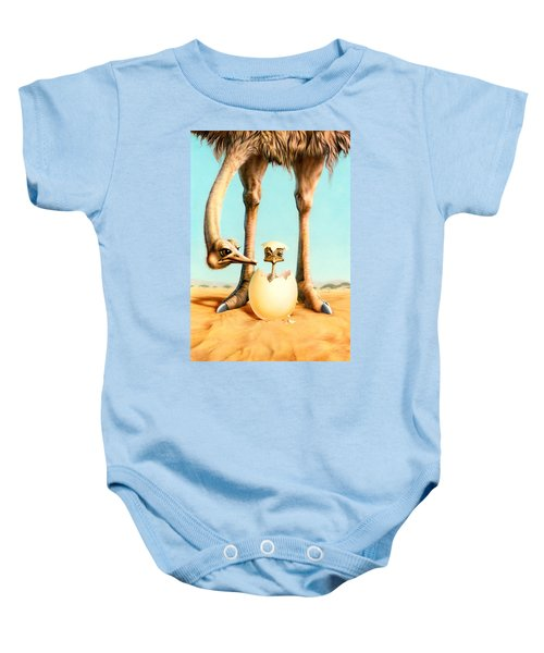 Hello Mum Baby Onesie by Andrew Farley