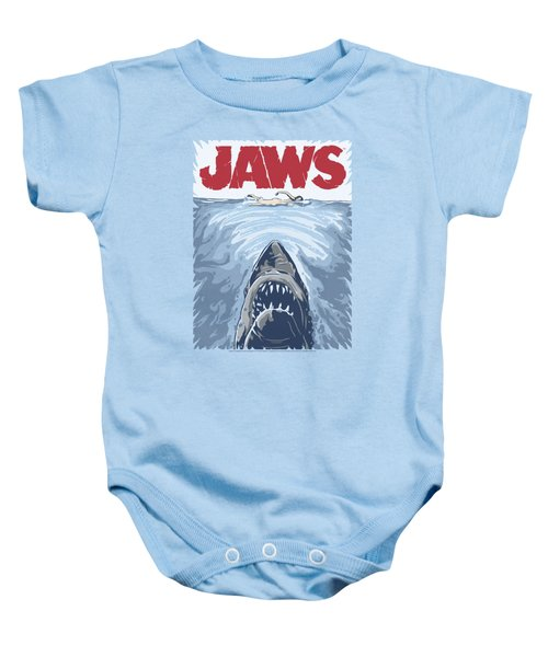 Jaws - Graphic Poster Baby Onesie by Brand A