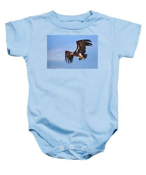 Lappetfaced Vulture Baby Onesie by Johan Swanepoel
