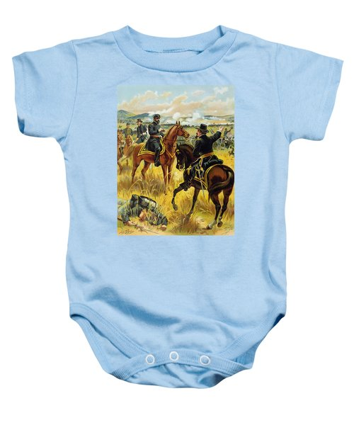 Major General George Meade At The Battle Of Gettysburg Baby Onesie by Henry Alexander Ogden