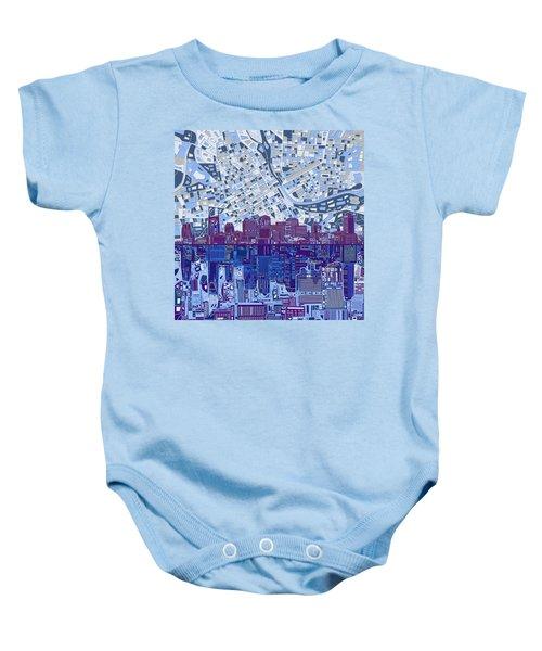 Nashville Skyline Abstract 8 Baby Onesie by Bekim Art