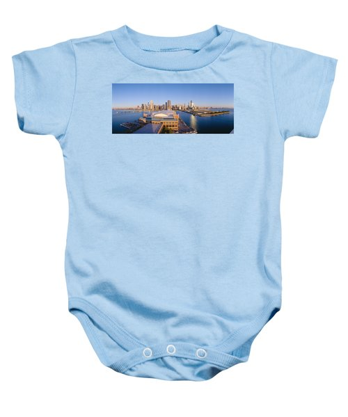 Navy Pier, Chicago, Morning, Illinois Baby Onesie by Panoramic Images