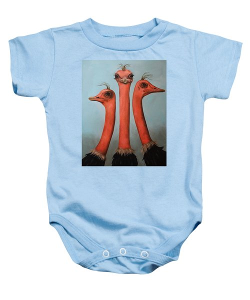 Posers 2 Baby Onesie by Leah Saulnier The Painting Maniac