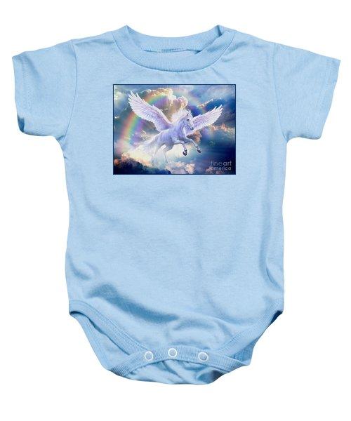 Rainbow Pegasus Baby Onesie by Jan Patrik Krasny