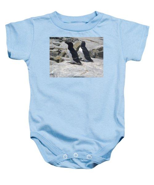 Razorbills 2 Baby Onesie by James Petersen