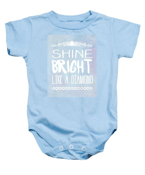 Shine Bright Blue Baby Onesie by Pati Photography