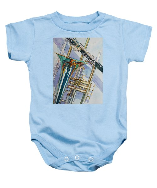 The Color Of Music Baby Onesie by Jenny Armitage