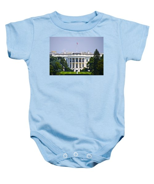 The Whitehouse - Washington Dc Baby Onesie by Bill Cannon