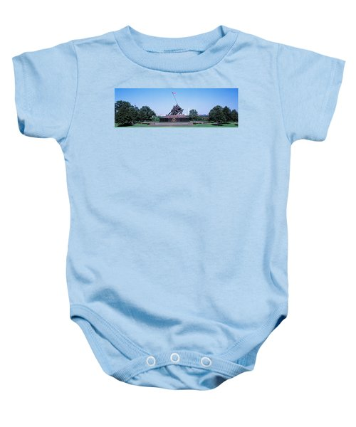 War Memorial With Washington Monument Baby Onesie by Panoramic Images