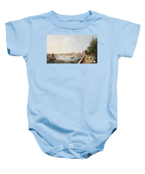 View Of The River Thames From The Adelphi Terrace  Baby Onesie by William James
