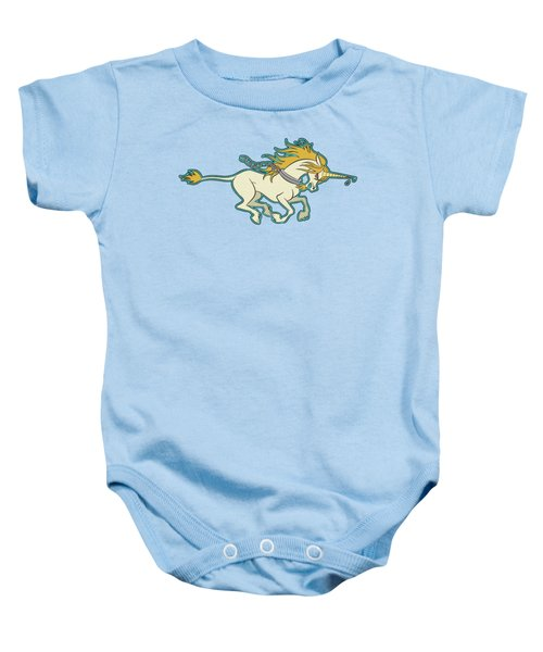 Charging Unicorn Baby Onesie by J L Meadows