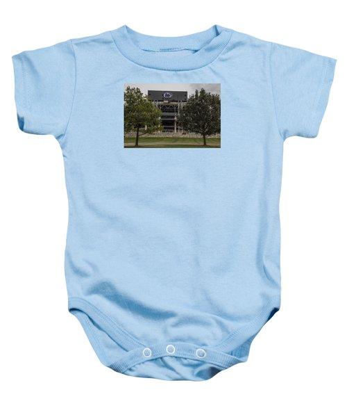 Penn State Beaver Stadium  Baby Onesie by John McGraw