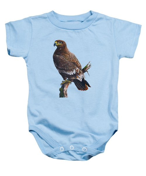 Steppe-eagle Baby Onesie by Anthony Mwangi