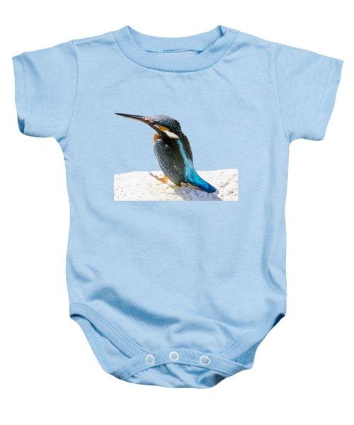 A Beautiful Kingfisher Bird Vector Baby Onesie by Tracey Harrington-Simpson